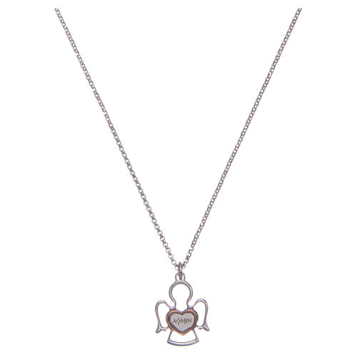 Amen silver necklace with Angel pendant 1