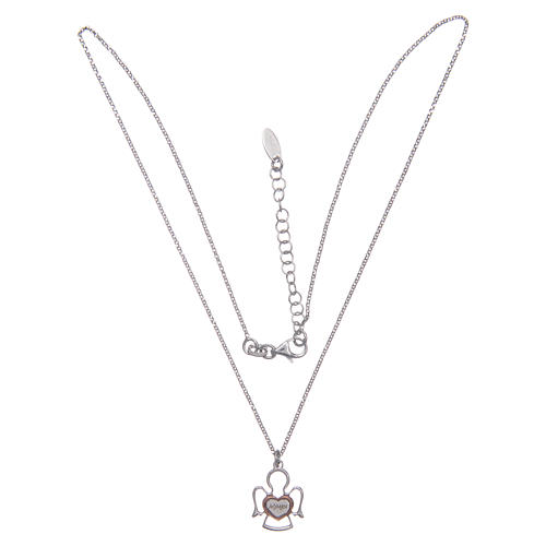 Amen silver necklace with Angel pendant 3