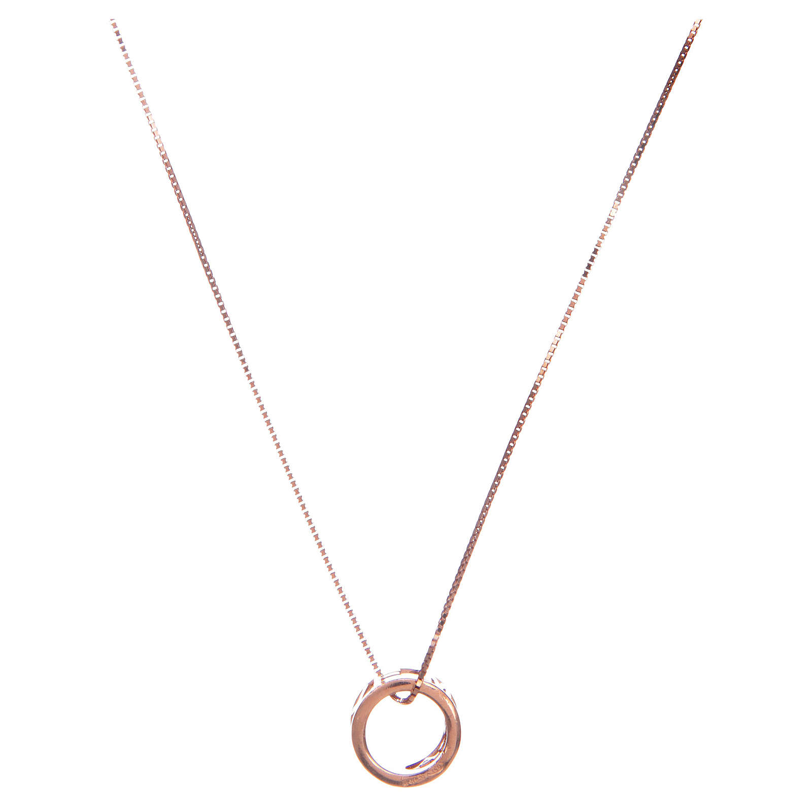 Collier Amen pendentif Ave Maria argent rosé 4