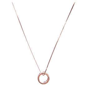 Collier Amen pendentif Ave Maria argent rosé s2