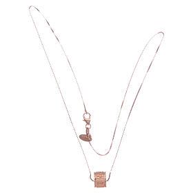 Collier Amen pendentif Ave Maria argent rosé s3