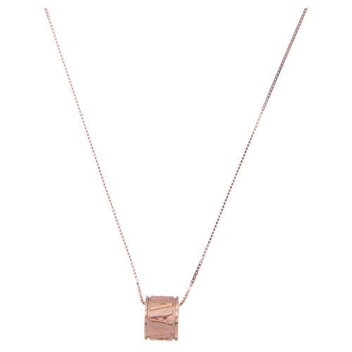 Collier Amen pendentif Ave Maria argent rosé 1