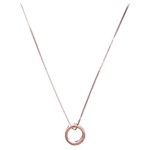 Collier Amen pendentif Ave Maria argent rosé 2