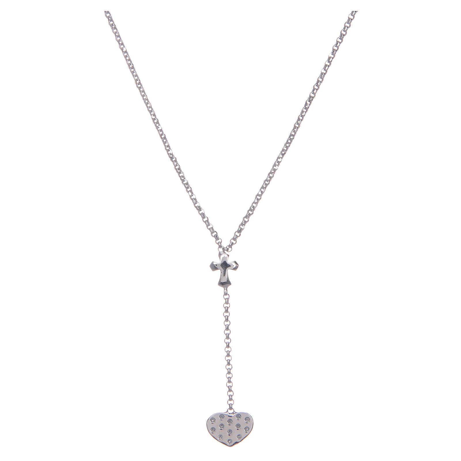 Collana Amen Argento cuore e croce 4