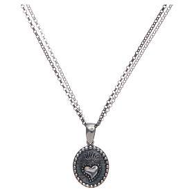 Collar Amen Sagrado Corazón plata s1