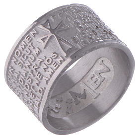 Prayer ring Pater Noster in Latin silver AMEN s1