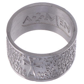 Prayer ring Pater Noster in Latin silver AMEN s2