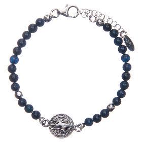 Bracelet Amen St Benoît agate bleue s1
