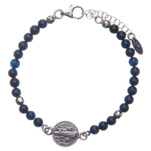 Bracelet Amen St Benoît agate bleue 1