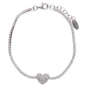 Tennis bracelet with heart of zircons, Amen s1