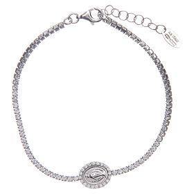 AMEN bracelets: Amen tennis bracelet with zircons and Miraculous medal