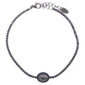 Bracelet Amen rivière Vierge Miraculeuse et zircons noirs s1