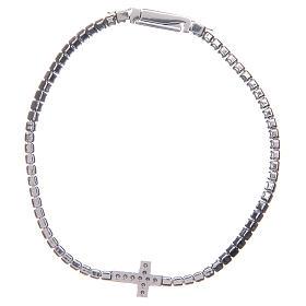 Bracciale Amen croce e zirconi bianchi argento s2