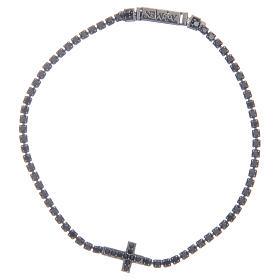 AMEN bracelets: Bracelet Amen with cross and black zircons