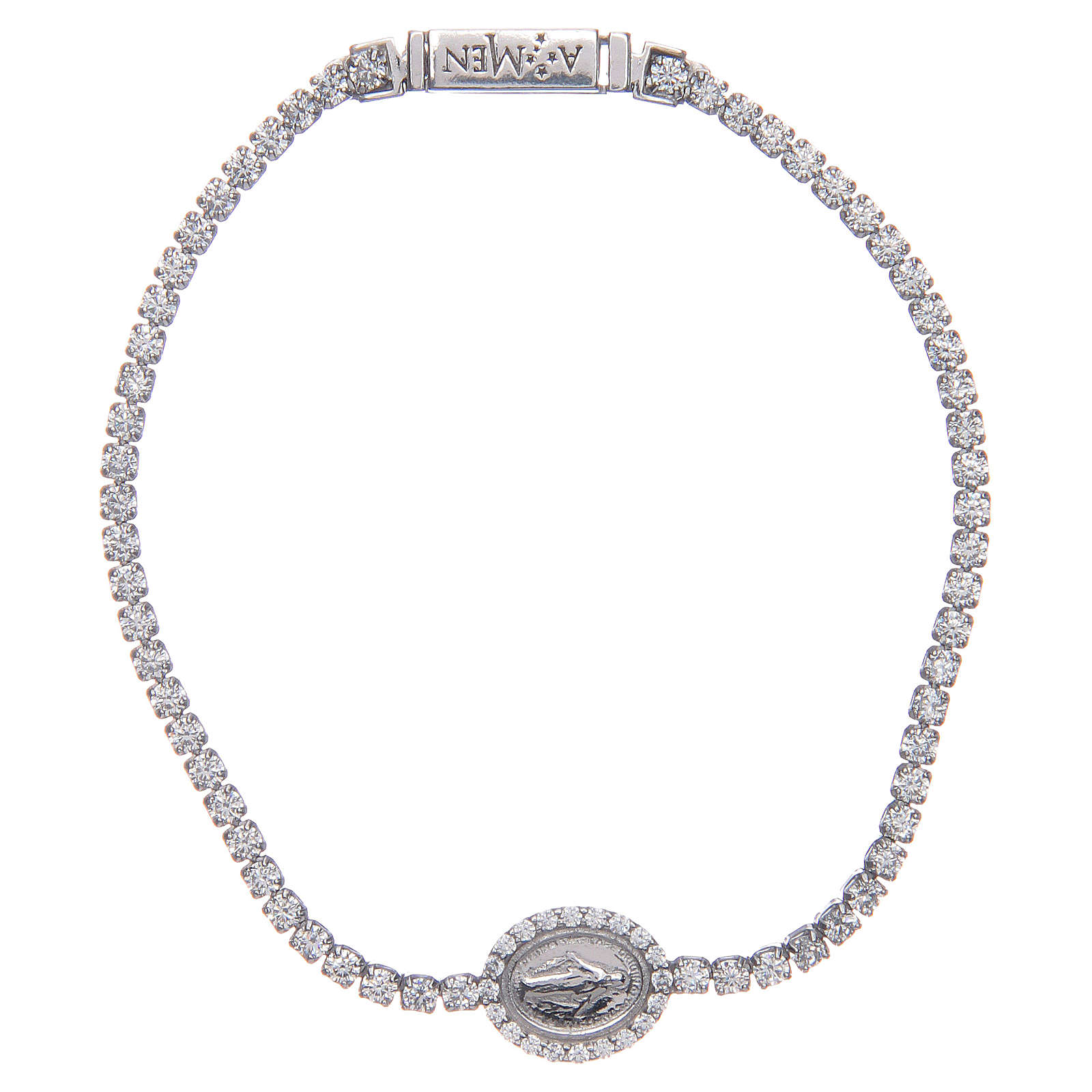 Tennis Amen-Armband mit Wundertätiger Medaille 4