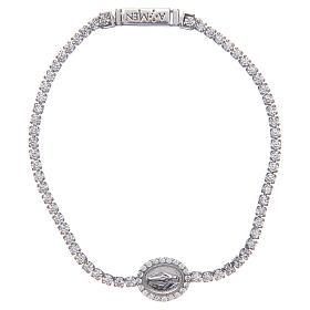 Miraculous medal tennis bracelet, Amen s1