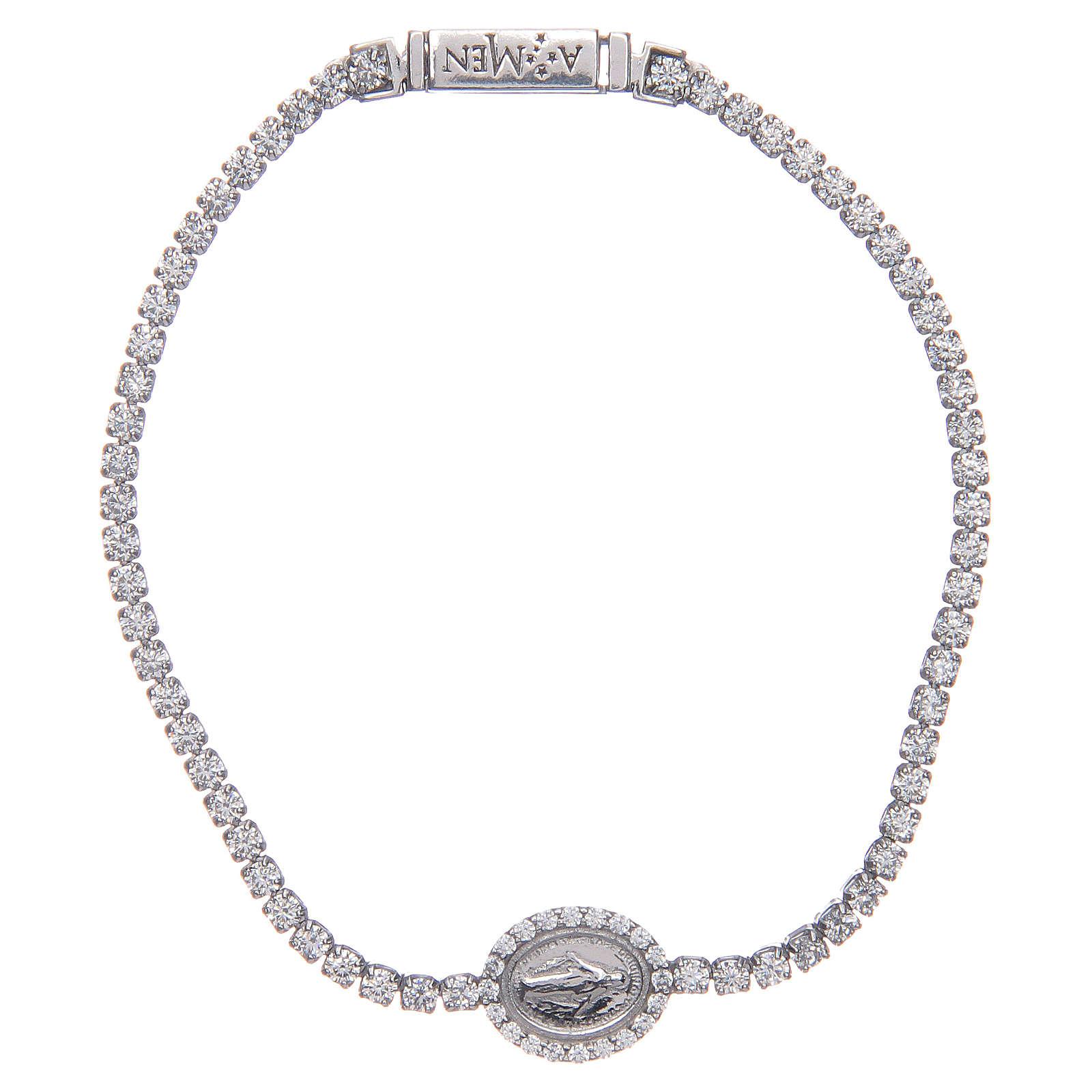 Miraculous medal tennis bracelet, Amen 4