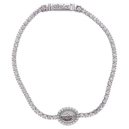Miraculous medal tennis bracelet, Amen 1