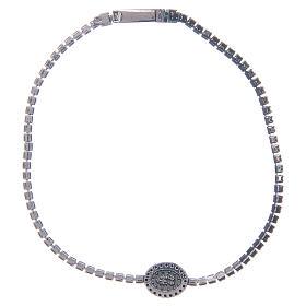 Bracelet Amen rivière médaille Miraculeuse zircons noirs s2