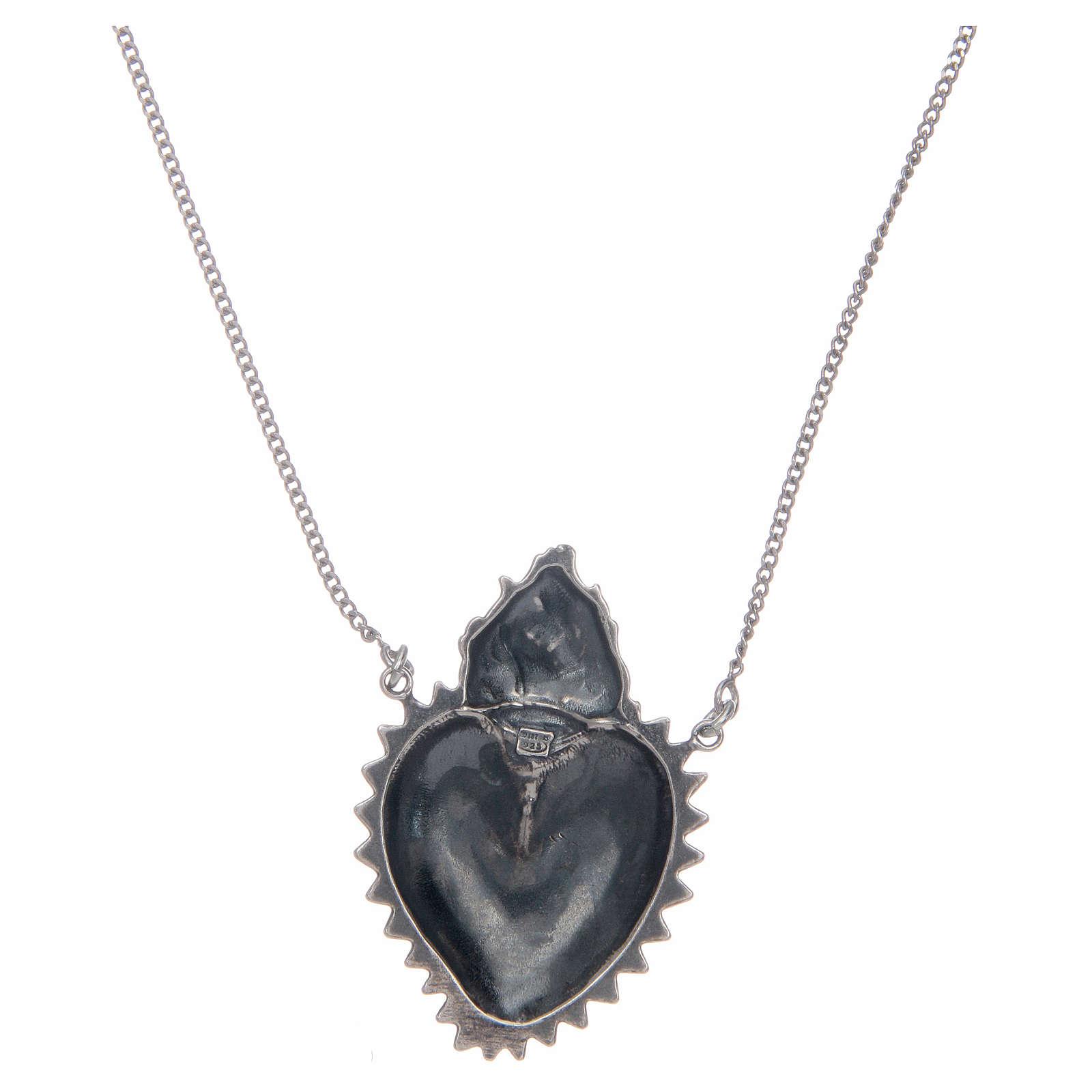 Girocollo cuore votivo argento 925 cm 2 4