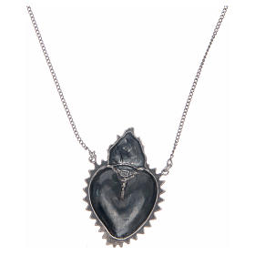 Girocollo cuore votivo argento 925 cm 2 s2