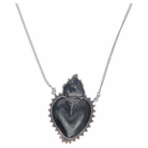 Girocollo cuore votivo argento 925 cm 2 2