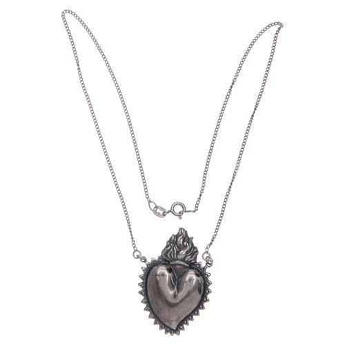 Girocollo cuore votivo argento 925 cm 2 3