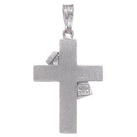 Croce diaconale argento 925 smalto rosso s2