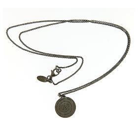 Kette AMEN für Mann getönten Silber 925 Medaille Engel Gottes s3