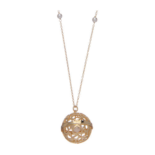Collar AMEN Llamador de Ángeles Plata 925 dorada 3