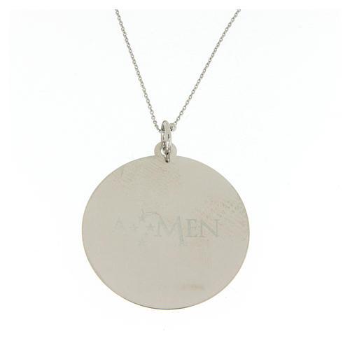 Collar Amen Coelis Ángel de Dios Plata 2