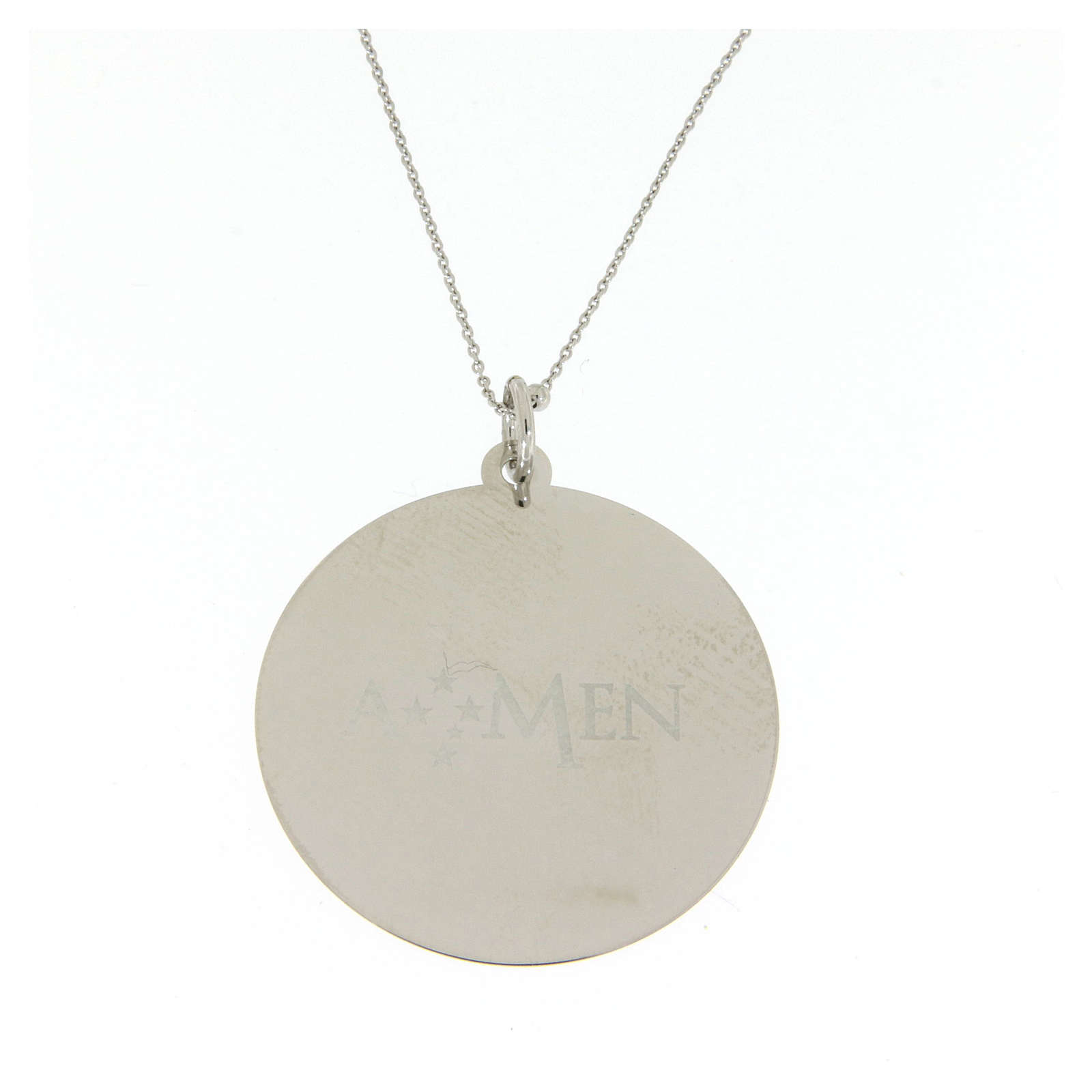 Amen necklace Angel of God in silver 4