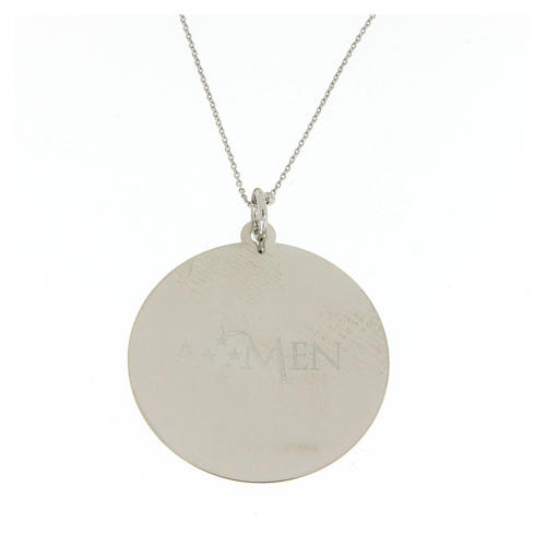 Amen necklace Angel of God in silver 2