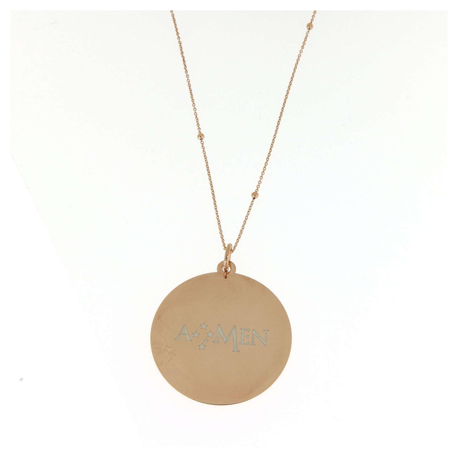 Amen necklace Angel of God in rosè 4