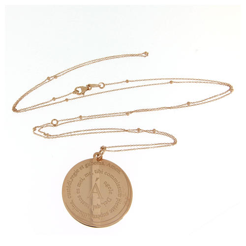 Amen necklace Angel of God in rosè 3