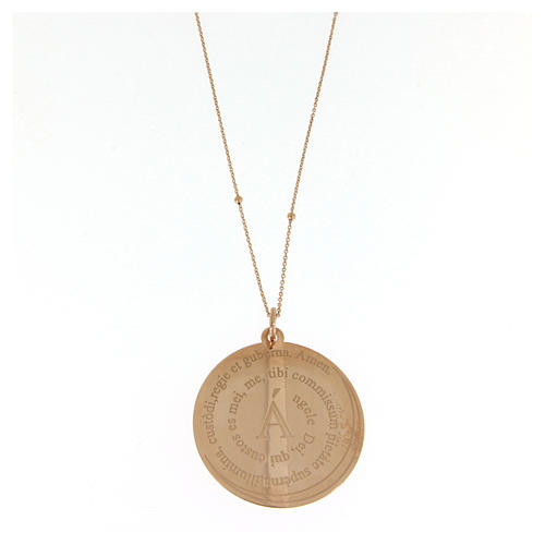 Amen necklace Angel of God in rosè 1