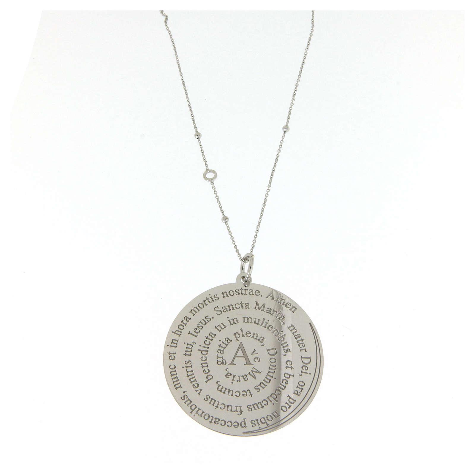 Collier Amen argent 925 Coelis Ave Maria 4