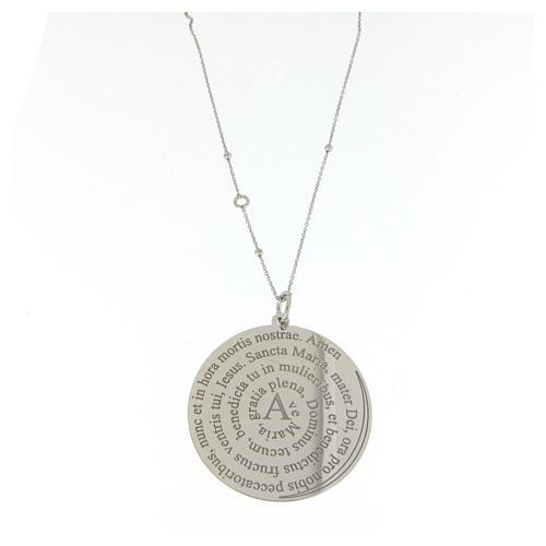 Collier Amen argent 925 Coelis Ave Maria 1