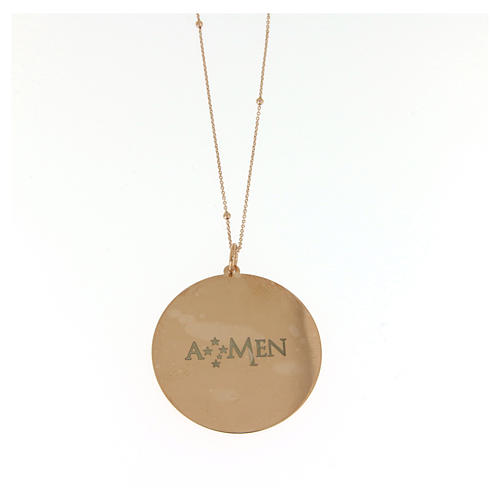 Collana Amen Coelis Ave Maria Argento rosé 2