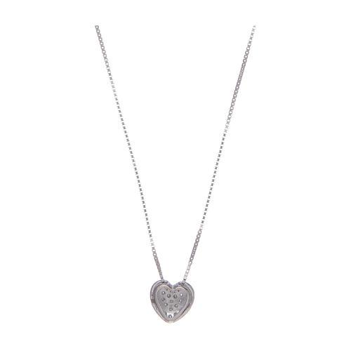 Collier Amen coeur argent 925 et zircons 2
