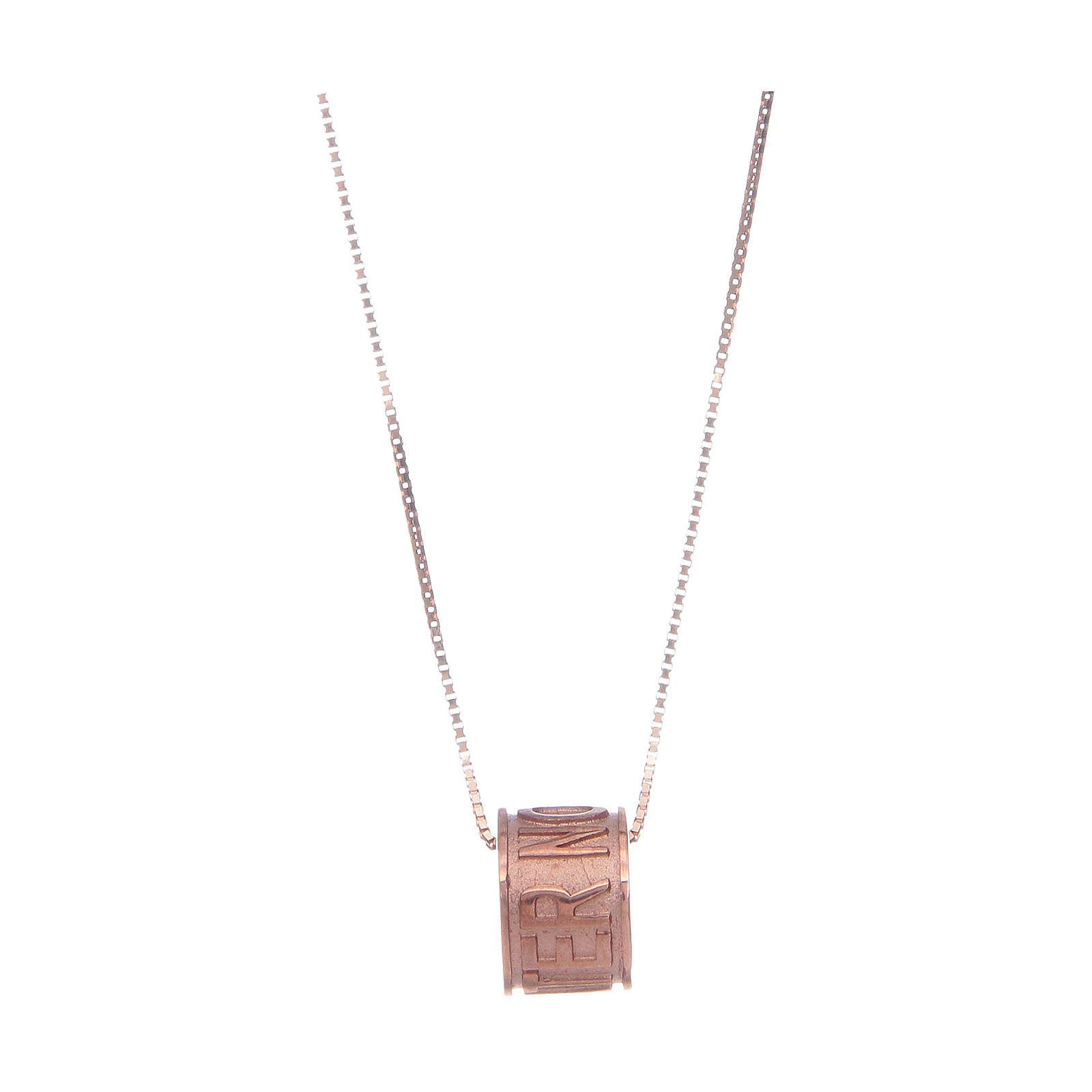 Collar AMEN Plata 925 rosada Pater Noster 4