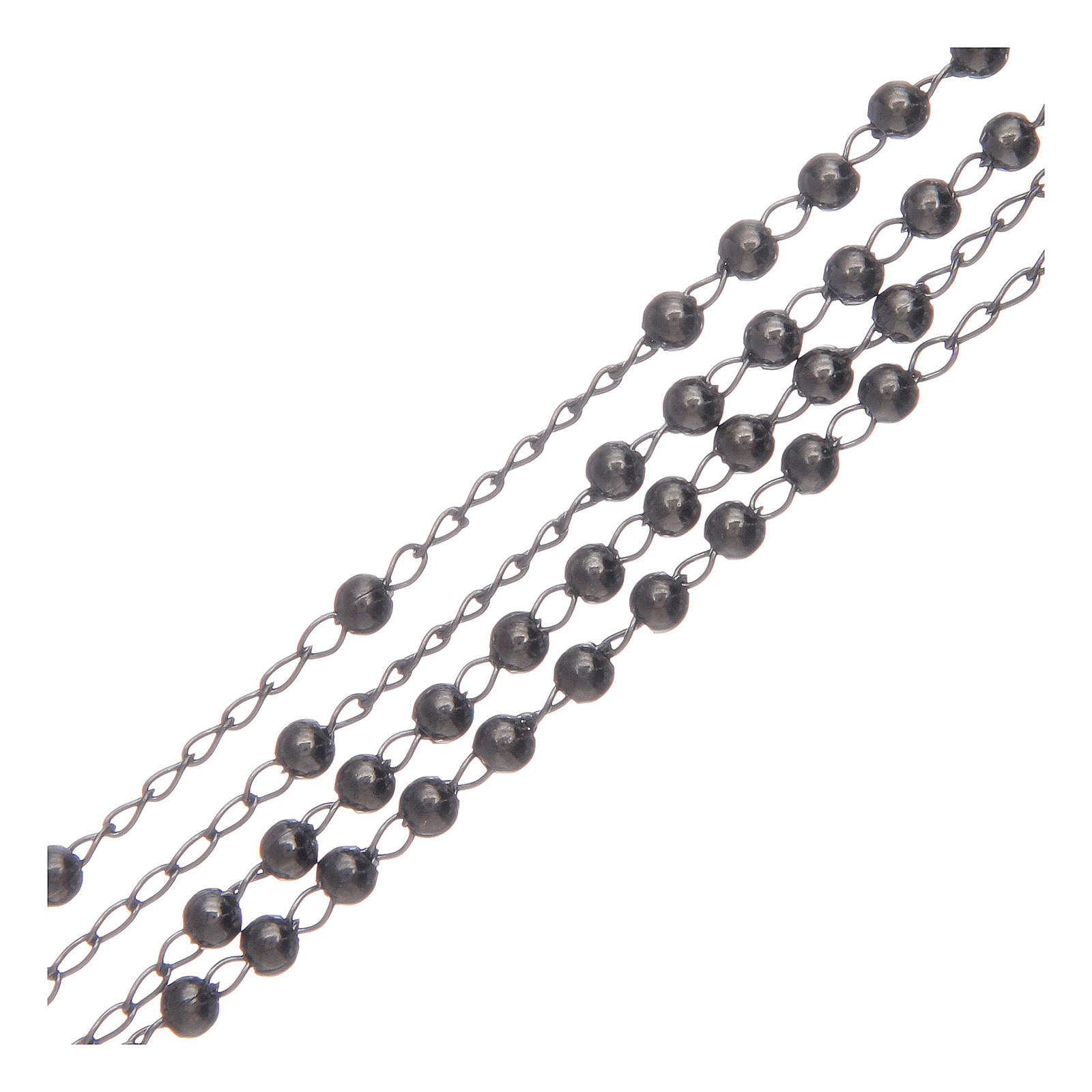 Collana rosario Amen Argento 925 brunito 4