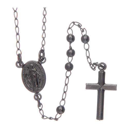 Collana rosario Amen Argento 925 brunito 2