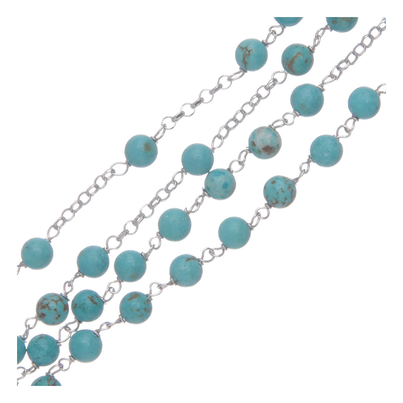 Collar rosario AMEN Plata 925 turquesa 4