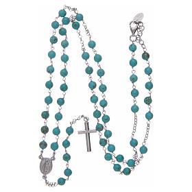 Collar rosario AMEN Plata 925 turquesa s4