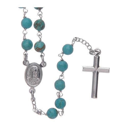 Collier chapelet Amen argent 925 turrquoise 2