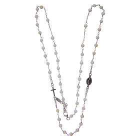 Amen rosary choker in 925 sterling silver and mother of pearl s3