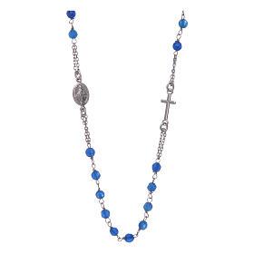 Collar Rosario AMEN jade azul y Plata s1