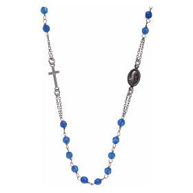Collar Rosario AMEN jade azul y Plata s2