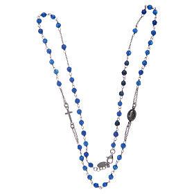 Collar Rosario AMEN jade azul y Plata s3
